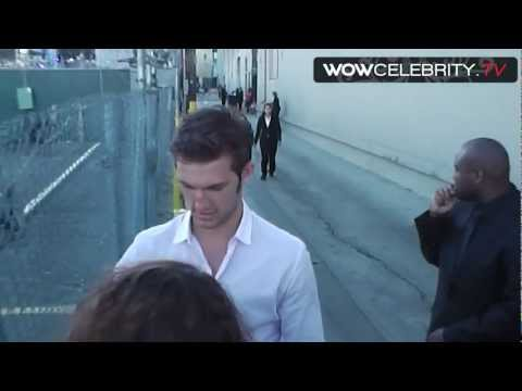 of Magic Mike Alex Pettyfer signs autographs at Jimmy Kimmel live