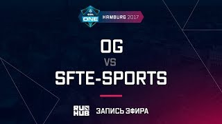 OG vs SFTe-sports, ESL One Hamburg 2017, game 2, part 1 [Maelstorm, LightOfHeaven]