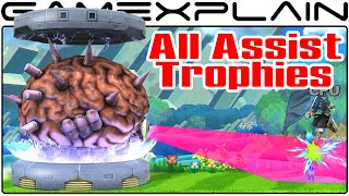 All Assist Trophies in Smash Bros Wii U (No Isaac in sight)