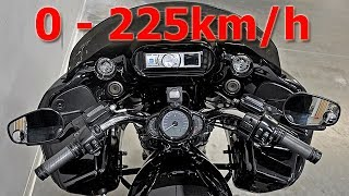 9. Harley-Davidson V-Rod Night Rod - Acceleration 0-225km/h & Exhaust Sound & Burnout & Wheelie