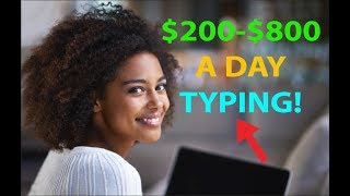 Video Make Money by Typing/Writing $200 to $800 per Day! EASY HACK! MP3, 3GP, MP4, WEBM, AVI, FLV Juni 2019