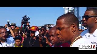Jay Z show no support for Max B @ Brooklyn HipHop Festival 2014
