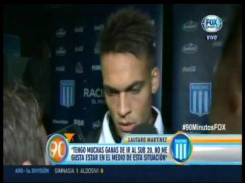 Lautaro Martinez: 'Tengo muchas ganas de ir a la Selección'