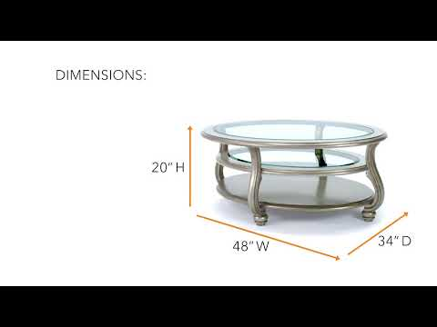 Coralayne T820-0 Oval Cocktail Table