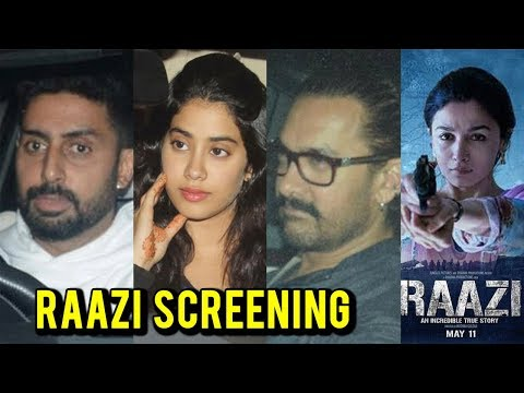 Raazi Movie Screening : Aamir Khan, Rekha, Abhishe