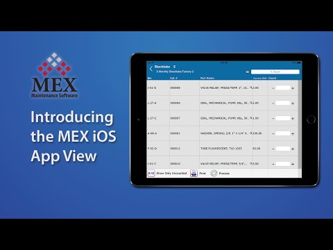 Introducing the MEX Maintenance Software iOS App View