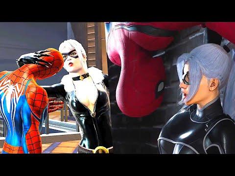 All Spider Man Black Cat Romance/KISS Scenes In Video Games
