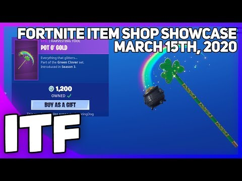 Play this video Fortnite Item Shop RARE POT O39 GOLD IS BACK! March 15th, 2020 Fortnite Battle Royale