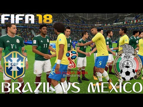 FIFA (PC) Brazil V Mexico | 2018 FIFA WORLD CUP RUSSIA | ROUND OF 16 | 2/7/2018 | 1080P 60FPS