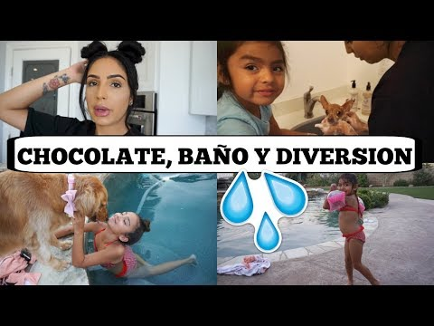 DÍA DE BAÑO PARA TODAS! CHOCOLATE + DIVERSION EN LA PISCINA - vlogs diarios