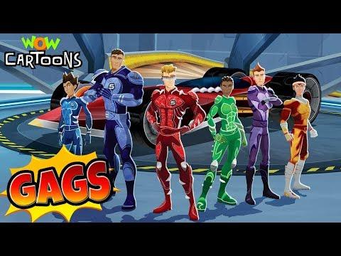 Hotwheels Battle Force 5 | Action Cartoon Video | Gags - 01 | Kids Cartoons | Wow Cartoons