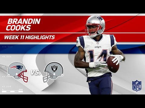 Video: Brandin Cooks' 149 Yards & 1 TD vs. Oakland! | Patriots vs. Raiders | Wk 11 Player Highlights