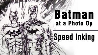 Inking Batman at a Photo Op with St Cloud Batman. #SCB In this video, I'm inking my Batman sketch.Code Blue by Audionautix is licensed under a Creative Commons Attribution license (https://creativecommons.org/licenses/by/4.0/)Artist: http://audionautix.com/