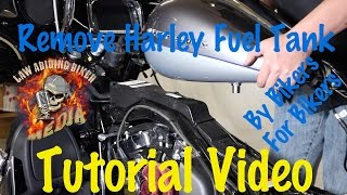 9. Remove & Install Harley Davidson Fuel Gas Tank-Motorcycle Biker Podcast