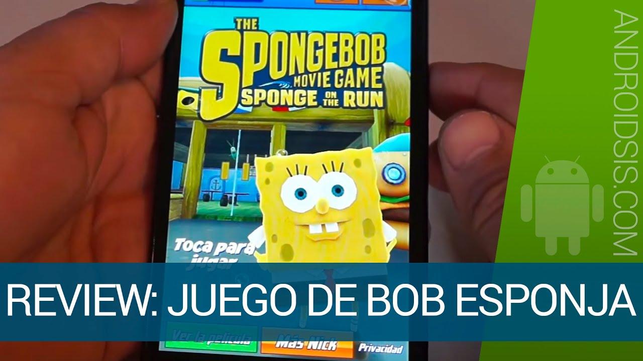 Descargar Bob Esponja a la carrera, el vídeo juego para Android de Bob Esponja, héroe fuera del agua para celular #Android