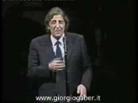 la democrazia - giorgio gaber