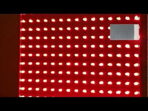 225 red LED hydroponic plant grow light panel 14w (RLED)