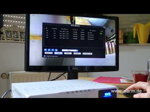 Netzwerk DVR / Network DVR mit 4 Outdoor IP Überwachungskameras / Bedienung und Test