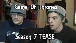 We react to the first official teaser trailer for season 7 of Game Of Thrones. We hope you enjoy... we're so excited for this!!