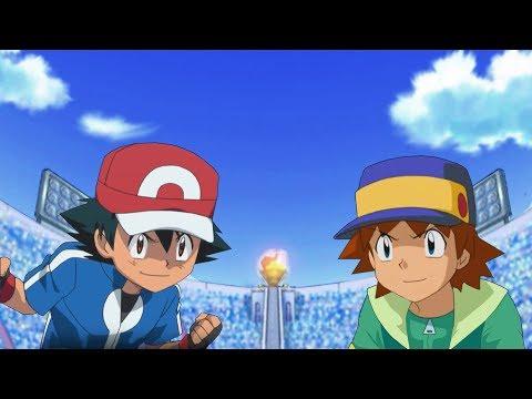 Pokemon Battle USUM: Kalos Ash Vs Ritchie (Pokemon Ash Rival Fight)