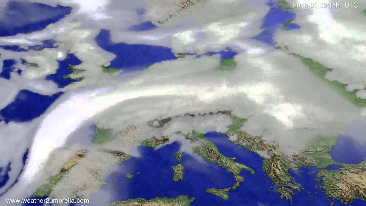 Cloud forecast Europe 2016-03-28