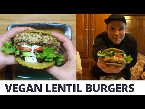 VEGAN LENTIL BURGER | COOKING WITH MOM видео