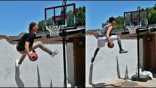 IMPOSSIBLE BASKETBALL TRICK SHOTS WITH WOLFIE AND KRISTOPHER LONDON