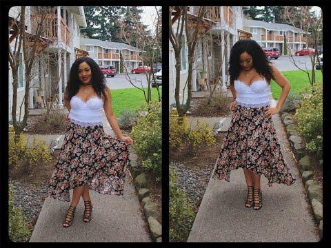 DIY Maxi Wrap Skirt/  Como Hacer Una  Maxi Falda