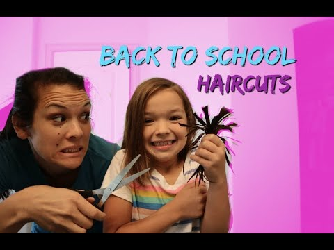 BAck TO School HAIRCUTS For EVERYONE!!! MOM CUT Too Much!!
