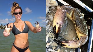 OPENING DAY! Stone Crabs Catch+Cook!!