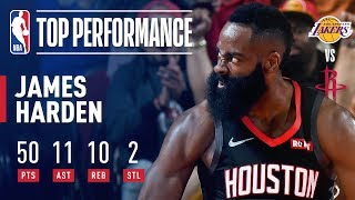 James Harden EXPLODES for 50-Point Triple-Double In Win Over Lakers | December 13, 2018 by NBA