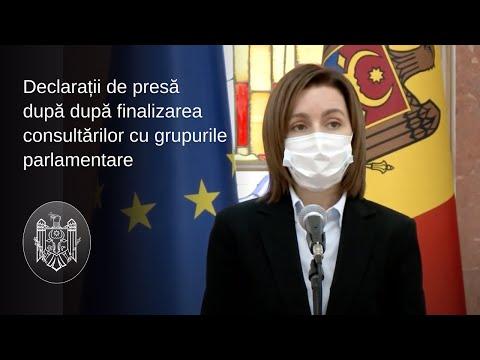 Declarația Președintelui Republicii Moldova, Maia Sandu, după finalizarea consultărilor cu fracțiunile și grupurile parlamentare