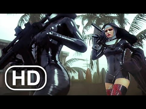 Nuns With Guns Vs Hitman Agent 47 Fight Scene Cinematic HD - Hitman Absolution Cinematics