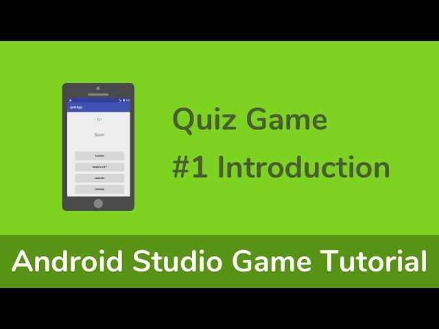 [Quiz Game] Java (Android Studio) Game Tutorial - #1 Introduction