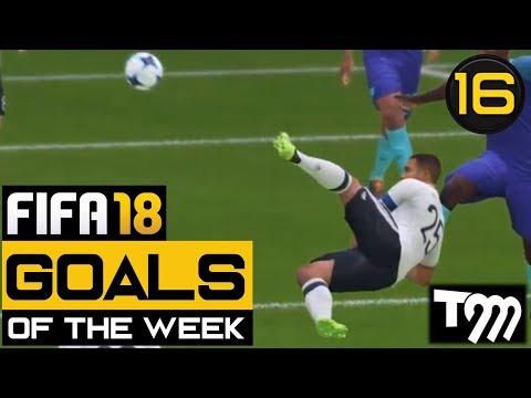 Fifa 18 - TOP 10 GOALS OF THE WEEK #16 (Best Fifa 18 Goals) (видео)
