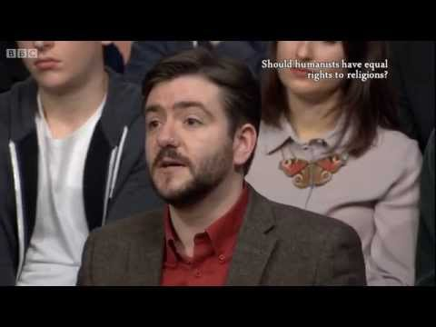Christian man says humanists are debauched. Andrew Copson explains what Humanism is really all about