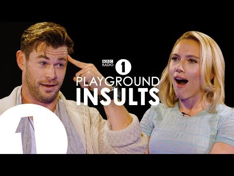Chris Hemsworth and Scarlett Johansson Try Not to Laugh While Insulting Each