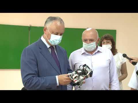 Игорь Додон принял участие участие в открытии обновленного корпуса лицея в Тараклии