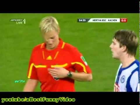 It ain t easy being a female referee and being surrounded by 22 horny male fo...