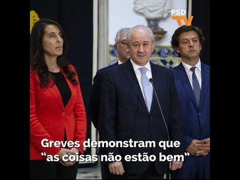 """Rui Rio: Greves demonstram """"que as coisas não estão bem"""""""