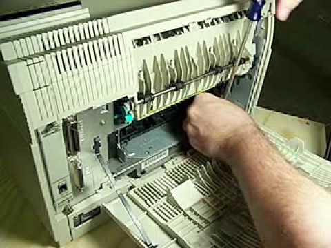 Portable Laser Printer-How To Replace A HP Laserjet 4 Printer Fuser Assembly
