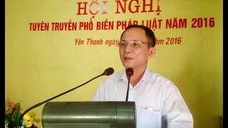Phường Yên Thanh: Hội nghị tuyên truyền phổ biến pháp luật năm 2016
