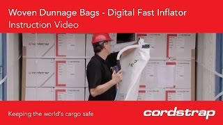 Cordstrap | 12 Cordstrap Woven Dunnage Bags + Digital Fast Inflator