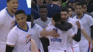 Russell Westbrook Game Winner and Triple Double! Thunder vs Jazz