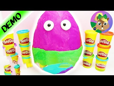 Play doh - ENORME OVO SURPRESA Play-Doh - Boneco Kawaii e Anti estresse fofo