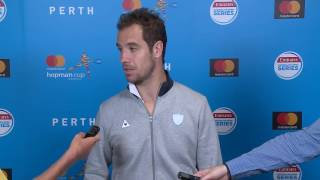 Richard Gasquet's press conference after defeating USA's Jack Sock in the final at the Mastercard Hopman Cup 2017.
