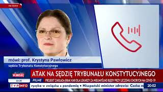 Dwóch mężczyzn zaatakowało Krystynę Pawłowicz pod jej domem! Gorąco po wyroku TK ws. aborcji