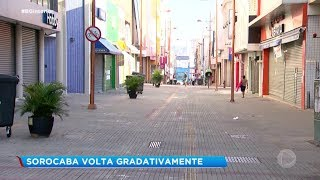 Sorocaba: comércio volta gradativamente