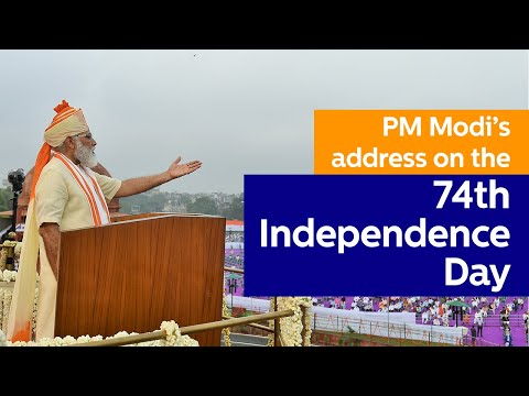 PM Modi addresses the Nation on the 74th Independence Day from Red Fort, Delhi   PMO