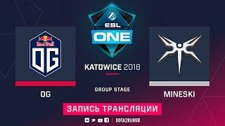 OG vs Mineski, ESL One Katowice, game 1 [Maelstorm, LighTofHeaveN]